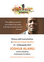 Intensive Vocal Weekends z Joshua Alamu