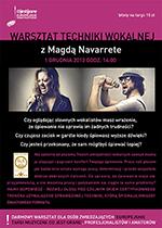 Warsztat Techniki Wokalnej z Magdą Navarrete