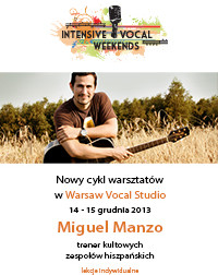 Intensive Vocal Weekends z Miguelem Manzo